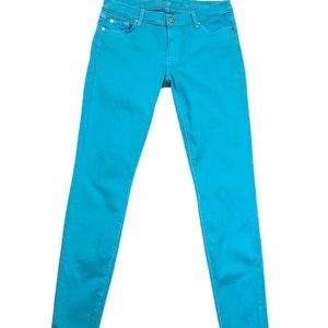 7 For All Mankind Womens Skinny Jeans Blue 31